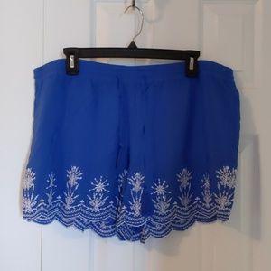 Loft drawstring waist shorts
